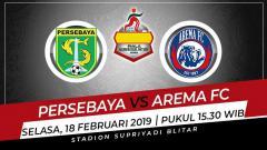 Indosport - Jadwal pertandingan semifinal kedua Piala Gubernur Jatim 2020 hari ini antara Persebaya Surabaya vs Arema FC.