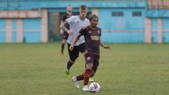 Indosport - Uji coba Persikabo vs PSM Makassar di Stadion Mini Cibinong, Bogor, Minggu (16/02/20).