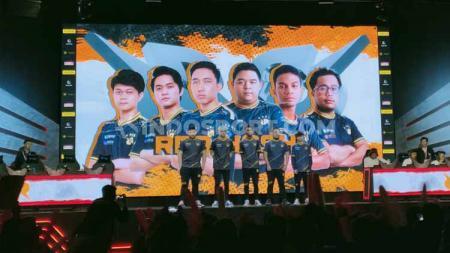 Penampilan tim Rex Regum Qeon (RRQ) di MPL Indonesia season 5. - INDOSPORT