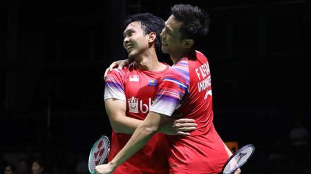 Pebulutangkis ganda putra Malaysia, Ong Yew Sin memberikan sanjungan setinggi langit kepada duet dadakan Fajar Alfian/M.Rian Ardianto di final BATC 2020. - INDOSPORT