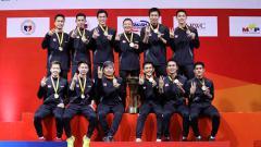 Indosport - Media Malaysia menyoroti target tim putra Indonesia yang berniat membawa pulang Piala Thomas 2020 usai menenangkan gelar ketiga BATC 2020 beberapa waktu lalu.