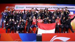 Indosport - Tim Indonesia di kejuaraan Badminton Asia Team Championship 2020.