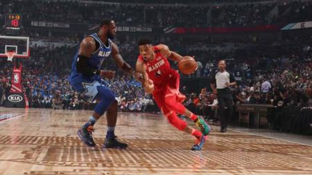 Tim Giannis vs Tim LeBron di NBA All-Star 2020 - INDOSPORT