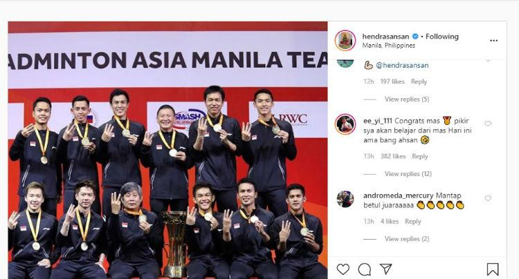 Postingan Hendra Setiawan Copyright: Instagram/Hendrasansan