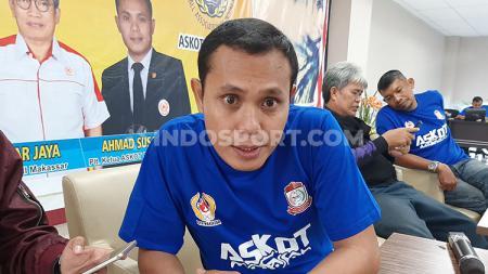 Plt Ketua Umum Askot PSSI Makassar, Ahmad Susanto. - INDOSPORT
