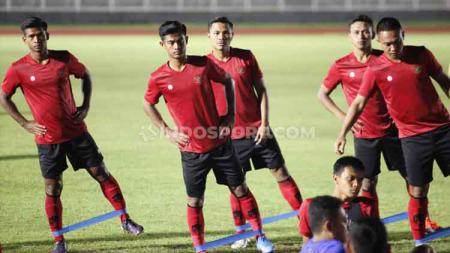 Empat pemain muda, David Maulana, Brylian Aldama, Egy Maulana Vikri, dan Witan Sulaeman sudah bergabung dalam pemusatan latihan Timnas Indonesia. - INDOSPORT