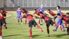 Indosport - Pemusatan latihan Timnas Indonesia dibawah arahan pelatih Shin Tae-yong di Stadion Madya beberapa waktu lalu.