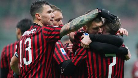 Termasuk Gianluigi Donnarumma, klub Serie A Liga Italia, AC Milan, terancam kehilangan sampai 13 bintangnya. - INDOSPORT