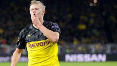 Indosport - Erling Haaland tampak mampu mencatatkan sejumlah statistik mencengangkan dalam laga Liga Champions Borussia Dortmund vs Paris Saint-Germain (PSG), Rabu (19/02/20) dini hari WIB tadi.