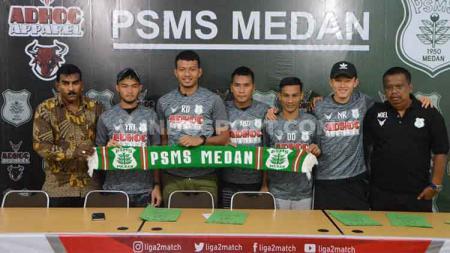 PSMS Medan resmi memperkenalkan lima pemain anyar mereka untuk mengarungi Liga 2 2020, Selasa (18/2/2020). - INDOSPORT