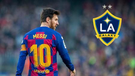 Pemain Barcelona, Lionel Messi, masih terus dikabarkan akan merapat ke klub Major League Soccer (MLS), La Galaxy. - INDOSPORT