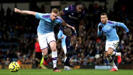 Manchester City menjadi tim yang paling banyak gagal mengonversi penalti di Liga Inggris musim 2019-2020. - INDOSPORT