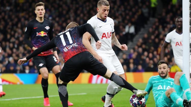 Situasi pertandingan Liga Champions antara Tottenham Hotspur vs RB Leipzig, Kamis (20/02/20) dini hari WIB. Copyright: Leipzig