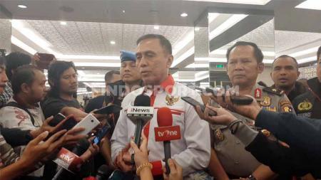 Ketua Umum PSSI, Mochamad Iriawan menggelar rapat koordinasi dengan pihak kepolisian terkait pelaksanaan Liga 1. - INDOSPORT