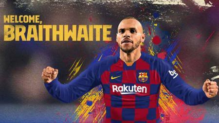 Martin Braithwaite telah resmi menjadi pemain Barcelona, menjadikannya sebagai pemain asal Denmark kelima yang pernah berseragam klub LaLiga Spanyol itu. - INDOSPORT