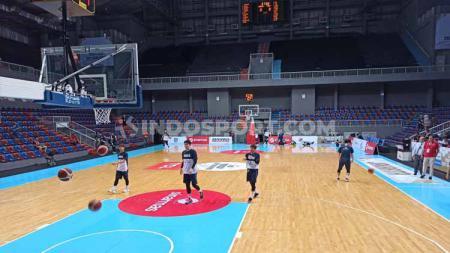 Timnas Basket Indonesia menghadapi Korea Selatan dalam pertandingan babak Kualifikasi FIBA Asia Cup 2021, Kamis (20/02/20) di Mahaka Arena, Kelapa Gading. - INDOSPORT