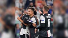 Indosport - Selebrasi para pemain klub Serie A Italia, Juventus.