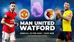 Indosport - Manchester United akan menjamu Watford dalam laga lanjutan Liga Inggris pekan ke-27 yang akan diselenggarakan pada hari Minggu pukul 21.00 WIB (23/2/2020).
