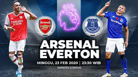 Duel panas akan tersaji di Liga Inggris 2019-2020 pekan ke-27 saat Arsenal menjamu Everton di Stadion Emirates. - INDOSPORT