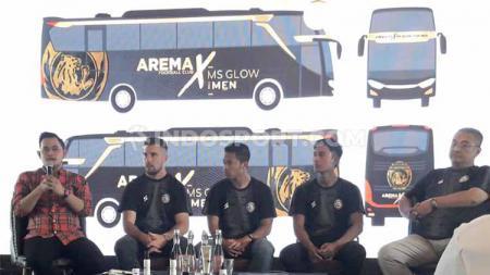 Gambaran desain bus tim untuk Arema FC pada kompetisi Liga 1 2020. - INDOSPORT