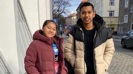 Pebulutangkis  Teges Satriaji Cahyo Hutomo mengaku tanpa beban berduet dengan Indah Sari Jamil di sektor ganda campuran junior Indonesia. - INDOSPORT