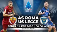 Indosport - Berikut prediksi pertandingan Serie A Liga Italia antara AS Roma vs Lecce, Senin (24/02/20) dini hari WIB.