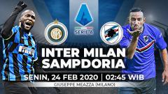 Indosport - Prediksi pertandingan Serie A Liga Italia pekan ke-25 antara Inter Milan vs Sampdoria, Senin (24/02/20) pukul 02.45 WIB.