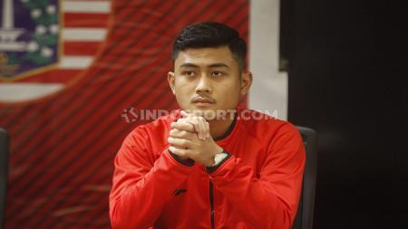 Pemain muda Persija Jakarta, Adrianus Dwiki Arya Purnomo, menyambut baik rencana timnya menggunakan Stadion Sultan Agung, Bantul, Yogyakarta. - INDOSPORT