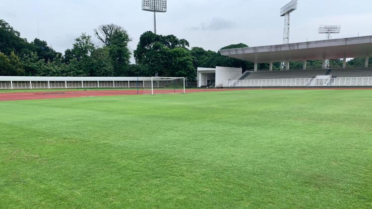Kondisi Stadion Madya Senayan, Jakarta, yang menjadi kandang PSM Makassar diajang Piala AFC 2020. Copyright: Media PSM
