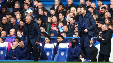 Jose Mourinho dan Frank Lampard di laga Chelsea vs Tottenham - INDOSPORT