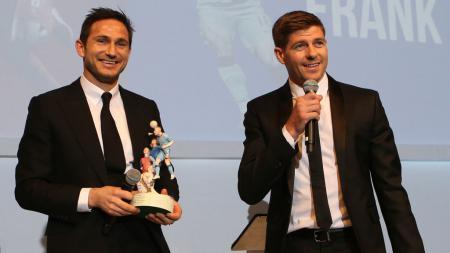 Dua legenda Timnas Inggris, Frank Lampard dan Steven Gerrard - INDOSPORT