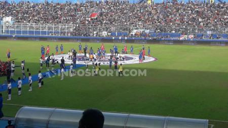 Launching tim Arema FC di Stadion Kanjuruhan. - INDOSPORT