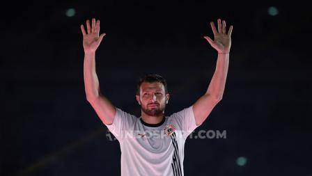 Mantan pemain Juventus, Marco Motta dalam balutan jersey baru Persija Jakarta jelang Liga 1 2020.
