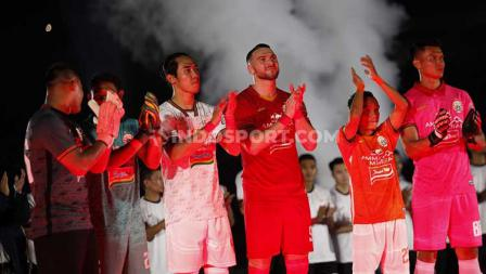 Acara launching tim dan jersey Persija Jakarta di Stadion GBK Senayan, Jakarta, Minggu (23/02/20).