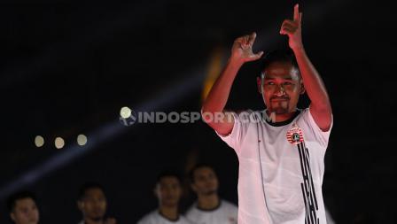 Ramdani Lestaluhu dalam acara launching tim Persija Jakarta di Liga 1 2020.