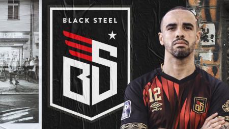 Jersey kandang dan tandang Blacksteel FC diajang Pro Futsal League (PFL) 2020 Indonesia. - INDOSPORT