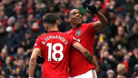 Penyerang Manchester United, Anthony Martial, dianggap sebagai pemain hebat oleh pemain rival di Liga Inggris, Watford. - INDOSPORT