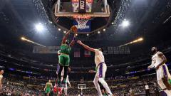 Indosport - Pertandingan NBA 2019-2020 antara LA Lakers vs Boston Celtics