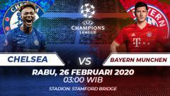 Indosport - Berikut prediksi pertandingan Liga Champions antara Chelsea vs Bayern Munchen, Rabu (26/02/20).