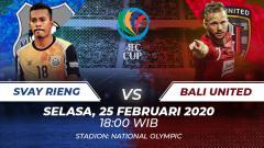 Indosport - Bali United akan menyambangi markas Svay Rieng dalam lanjutan Grup G Piala AFC di Stadion Phnom Penh Olympic, Selasa (25/2/20), pukul 18.00 WIB.