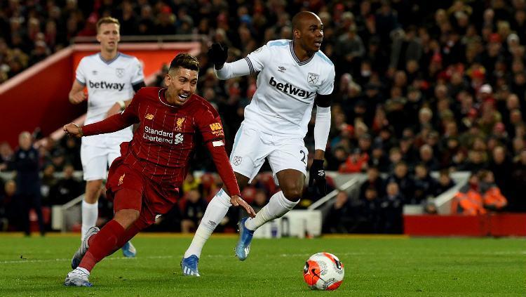 Firmino Dalam Laga Liverpool vs West Ham United Copyright: twitter.com/LFC