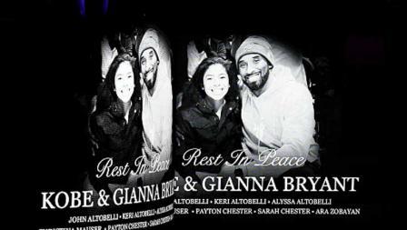 Penghormatan terakhir untuk Kobe Bryant dan Gianna Bryant di Staples Center dengan tajuk Celebration of Life pada tanggal (24-02-20) waktu setempat