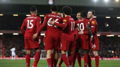 Indosport - Kemenangan dramatis Liverpool atas West Ham pada pekan ke-27 Liga Inggris menciptakan sejumlah rekor luar biasa bagi The Reds.