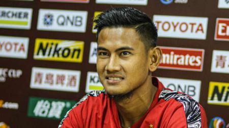 Bek Bali United, Haudi Abdillah, buka suara soal jadwal terbaru timnya di ajang Piala AFC 2020. - INDOSPORT