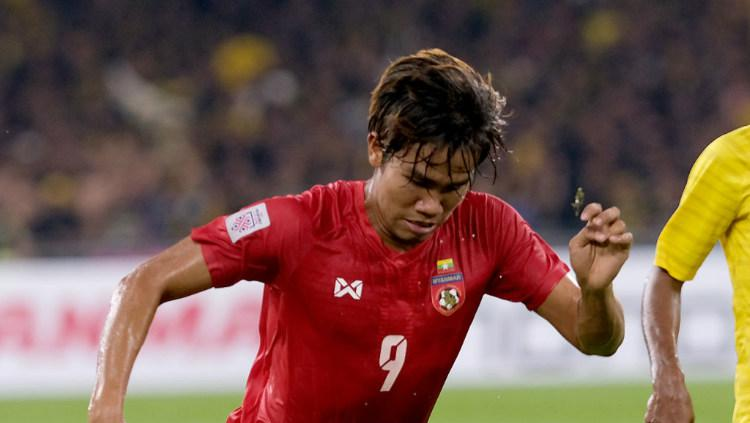 Pemain Shan United Zin Min Tun. Copyright: Getty Images/Allsport Co