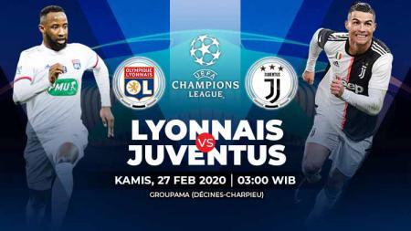 Pertandingan leg pertama babak 16 besar Liga Champions antara Olympique Lyon vs Juventus bisa disaksikan melalui layanan link live streaming. - INDOSPORT