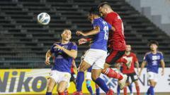 Indosport - Penyerang Bali United, Ilija Spasojevic sebenarnya berhasil mencetak gol di penghujung babak pertama di Piala AFC 2020 melawan Svay Rieng FC, Selasa (25/02/20).