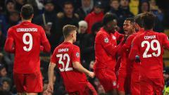 Indosport - Serge Gnabry bersama Bayern Munchen sukses mengalahkan Chelsea di leg pertama 16 besar Liga Champions.