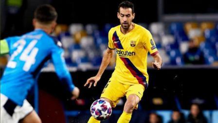 Situasi pertandingan leg pertama babak 16 besar Liga Champions antara Napoli vs Barcelona, Rabu (26/02/20) dini hari WIB.