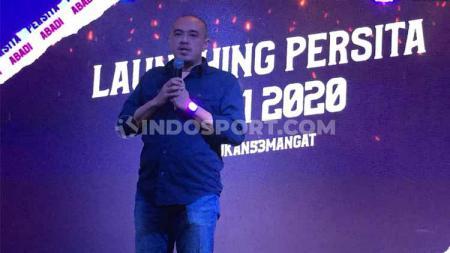 Presiden klub Liga 1  Persita Tangerang, Ahmed Rully Zulfikar menegaskan tidak mudah mengelola klub di Liga Indonesia. - INDOSPORT